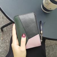 真皮零钱包女 迷你硬币包可爱简约韩国超薄短款小钱包2018新款潮 黑色 现货