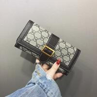新款钱包女长款薄2018新款时尚卡包折叠子母零钱包手包欧美复古软皮夹