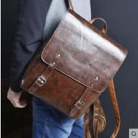韩版男士双肩包女旅行包时尚包休闲包男包潮包书包电脑包背包
