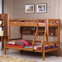 御品工匠 现代中式 全实木儿童床 子母床 上下铺双层床 高低床橡木床 F065