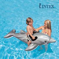 INTEX海豚坐骑58535/58539 坐骑浮圈充气坐骑充气座骑