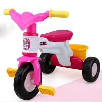 儿童三轮车小孩自行车童车玩具男女宝宝2-3-4岁脚踏车单车 默认蓝色