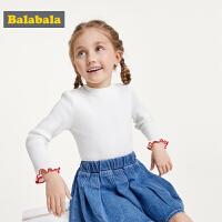 巴拉巴拉童装宝宝套头毛衫女童毛衣2019新款秋装儿童针织衫打底衫