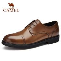 camel骆驼男鞋 秋季新款商务正装皮鞋牛皮防滑系带职场正装皮鞋