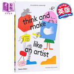 【中商原版】像艺术家般思考做事 英文原版 Think and Make Like an Artist 艺术活动益智游戏