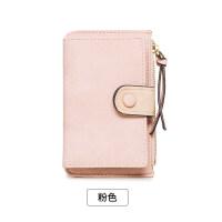 新款女式钥匙扣小包女韩国可爱多功能撞色个性迷你零钱包卡包一体