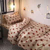 【官方旗舰店】北欧简约波点被罩四件套床上用品1.5学生宿舍单人床单被罩三件套4