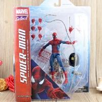 电影神奇超凡蜘蛛侠2手办模型场景 美国队长关节可动人偶玩具