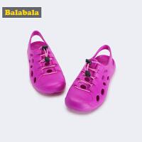 巴拉巴拉女童鞋子沙滩凉鞋2019新款秋小童鞋室外洞洞鞋儿童鞋透气