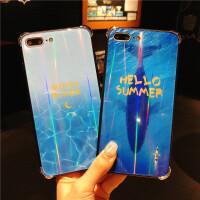 免邮 iphone玻璃壳 手机壳 旺财狗 招财猫 iPhone X 7 8 iphone6 6S plus 全包保护套