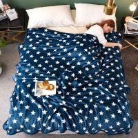 夏季法兰绒毛毯加厚珊瑚毯子床单双人春秋午睡沙发空调被毛巾盖毯