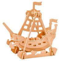 3D立体拼图 木制儿童益智智力拼插拼装木质玩具 成人模型