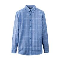 七匹狼男装纯棉长袖格子衬衫 中青年男士商务休闲衬衣 秋季新款寸衫男