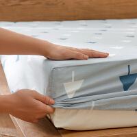多喜爱床笠单件全棉床套床垫套席梦思防滑床罩防尘罩保护套纯棉1.8米床
