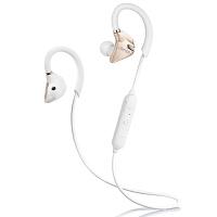 Edifier 漫步者 W296BT 立体声蓝牙运动耳机 入耳式耳机 手机耳机 带麦可通话 淡金白