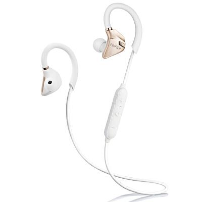 Edifier 漫步者 W296BT 立体声蓝牙运动耳机 入耳式耳机 手机耳机 带麦可通话 淡金白立体声蓝牙运动耳机
