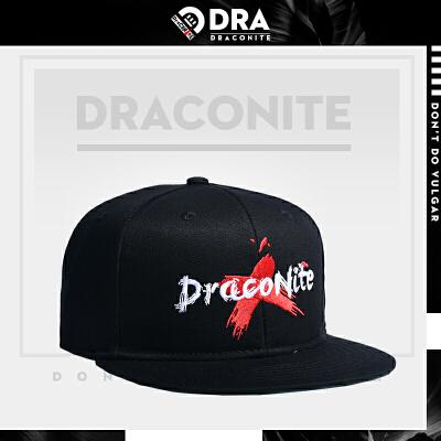DRACONITE潮牌嘻哈街头刺绣遮阳帽子女平沿运动休闲棒球帽男