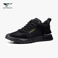 七匹狼男鞋秋季男士运动鞋秋季2020新款休闲黑色鞋子男潮鞋