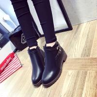 高帮皮鞋女英伦马丁靴冬季短靴学生韩版靴子女百搭加绒平底新款潮