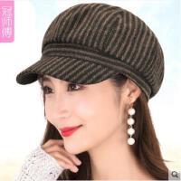 女秋冬贝雷帽子时尚优雅时装帽户外休闲画家帽冬季英伦风潮