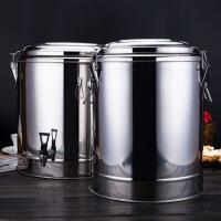 大容量商用奶茶店饮料豆浆保温桶不锈钢桶米饭热水龙头汤桶开水桶