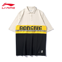 李宁短袖女士2019新款BAD FIVE篮球系列夏季翻领宽松针织POLO衫