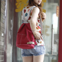 女包双肩包韩版小清新学院风书包帆布小背包休闲多功能旅游包