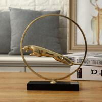 欧式轻奢铜摆件现代简约客厅酒柜电视柜玄关样板间个性家居装饰品
