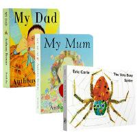 My Mum My Dad我爸爸妈妈 The Very Busy Spider繁忙的蜘蛛 纸板书3册