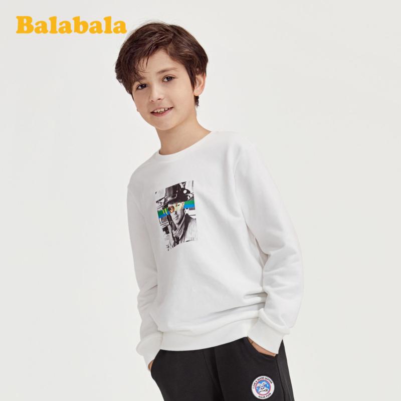 【满200减120】巴拉巴拉儿童卫衣春季男童上衣中大童套头印花衣服韩版百搭洋气男