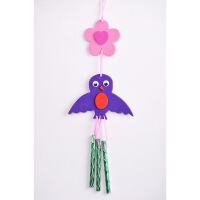 黑妞宝贝 儿童手工制作材料包 EVA粘贴画DIY创意风铃幼儿益智玩具