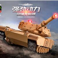 遥控坦克车大号对战充电动模型越野车摇控车金属儿童男孩玩具汽车