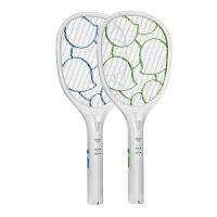 雅格充电灭蚊拍电蚊拍大网面大容量电池电苍蝇拍驱蚊拍子 绿色
