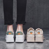 时尚新款松糕鞋女运动休闲鞋系带英伦皮鞋女鞋厚底增高小白鞋