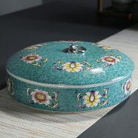紫砂茶�~罐粗陶瓷普洱茶��Υ婀奁咦语�白茶�包�b茶盒醒茶器�B��