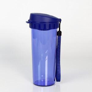 特百惠茶韵随心水杯子500ml塑料防漏便携运动茶杯东京蓝