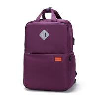 双肩14寸平板电脑摄影包佳能尼康宾得K70背包学生书包单反相机包 二代大号紫色1508 实物图片