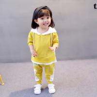 2018新款女童1春装0女婴儿童卫衣服3岁女宝宝2春秋韩版洋气套装潮