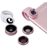 momax摩米士广角微距鱼眼四合一特效手机镜头苹果6s通用单反套装