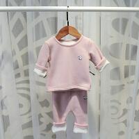 睡衣装2宝宝保暖内衣套装0-1岁男3女4婴儿季纯棉加绒衣服