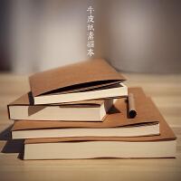 复古牛皮纸空白笔记本子 绘画涂鸦本 素描本记事速写本 260页
