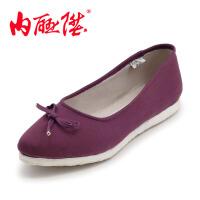 内联升 女鞋 布鞋 手工千层底 坤千吉祥节海元老北京女布鞋 8610A