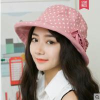 甜美可爱女帽子时尚潮韩版渔夫帽新款潮流休闲百搭贝雷帽薄款女士礼帽