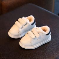 秋款儿童运动鞋男童鞋女童休闲鞋板鞋宝宝鞋皮加绒棉鞋鞋小白鞋