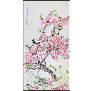 中国美术家协会会员 周彦生《花鸟》JXFT692