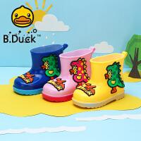 【限时抢:45元】B.Duck小黄鸭童鞋男女童春季新款雨靴软底防滑雨鞋宝宝水鞋潮BP1009905