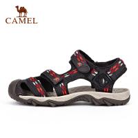 camel骆驼户外男女沙滩凉鞋 情侣织带出游沙滩鞋