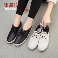 2017春季新款系带低帮休闲鞋女单鞋平底韩版潮黑白色小白鞋女学生鞋