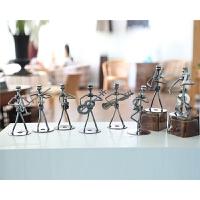 现代简约铁艺客厅装饰品摆件创意家居房间办公桌工艺艺术品小摆设