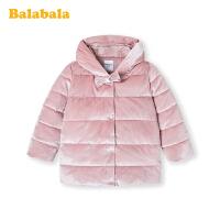 巴拉巴拉女童棉衣宝宝棉服秋冬2019新款儿童小童加厚丝绒外套洋气